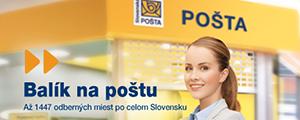 Doručenie objednávky na pobočku Slovenskej pošty