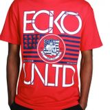Ecko Tričko Flag Stack Červené