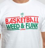Grill Funk Tričko Basket & Weed Biele