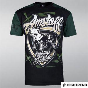 Amstaff Tričko Lizard Čierne