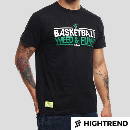 Grill Funk Tričko Basket & Weed Čierne